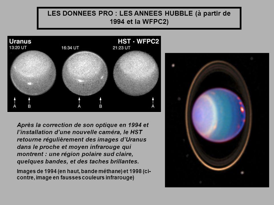 LES DONNEES PRO : LES ANNEES HUBBLE (à partir de 1994 et la WFPC2) Après la correction de son optique en 1994 et linstallation dune nouvelle caméra, l