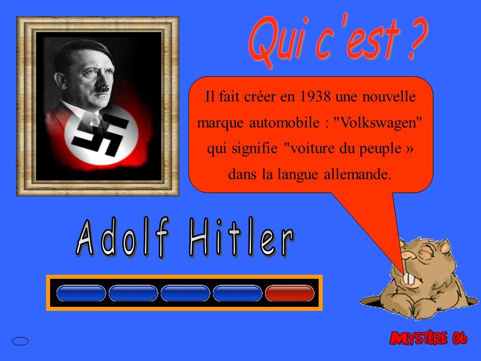 Il fait créer en 1938 une nouvelle marque automobile : Volkswagen qui signifie voiture du peuple » dans la langue allemande.
