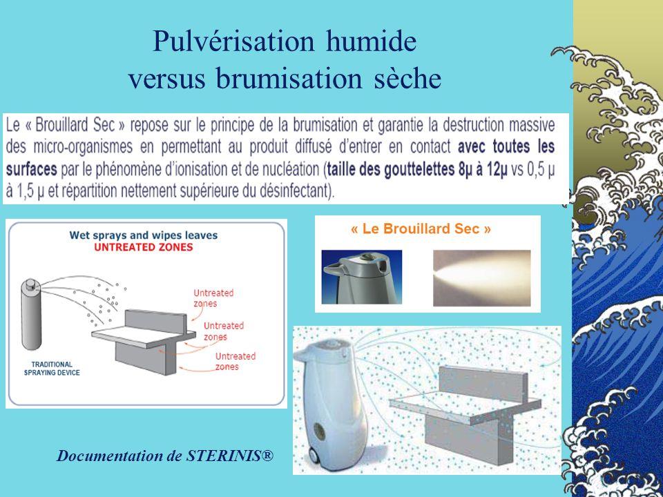 70 Pulvérisation humide versus brumisation sèche Documentation de STERINIS®