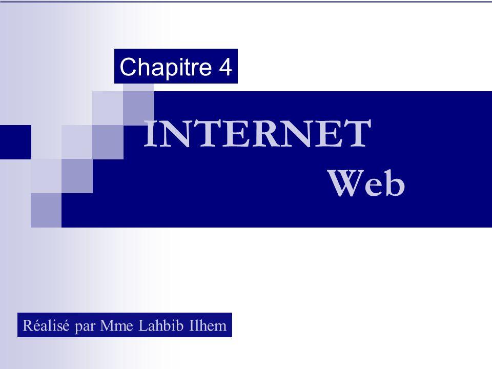 INTERNET Web Chapitre 4 Réalisé par Mme Lahbib Ilhem