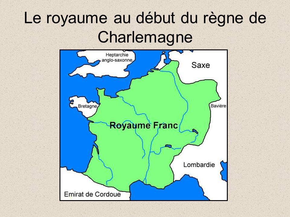 Le royaume au début du règne de Charlemagne