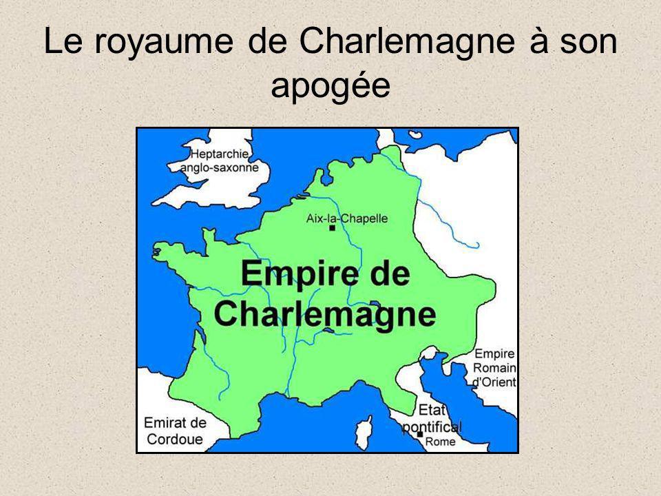 Le royaume de Charlemagne à son apogée