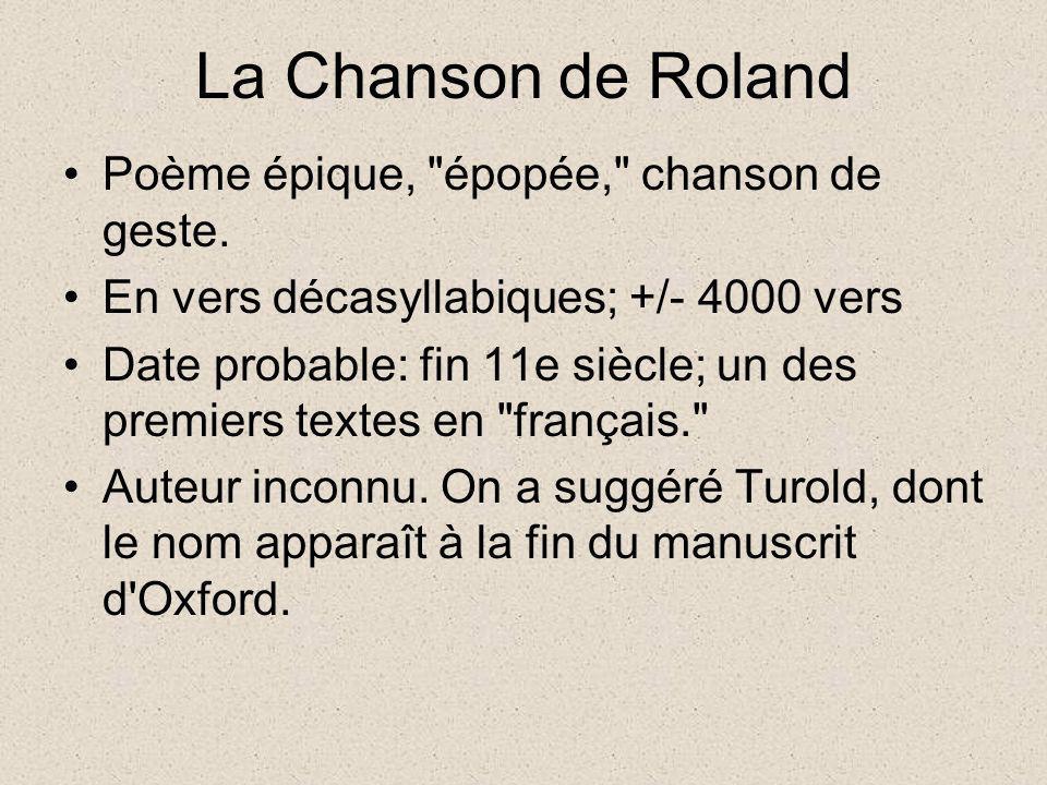La Chanson de Roland Poème épique,