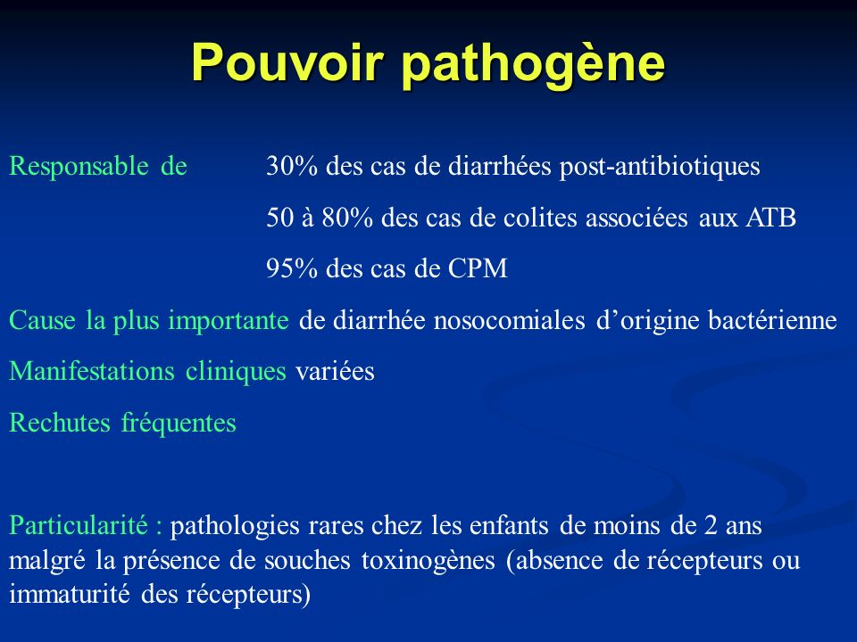 Diagnostic (3) Selles Culture de C.