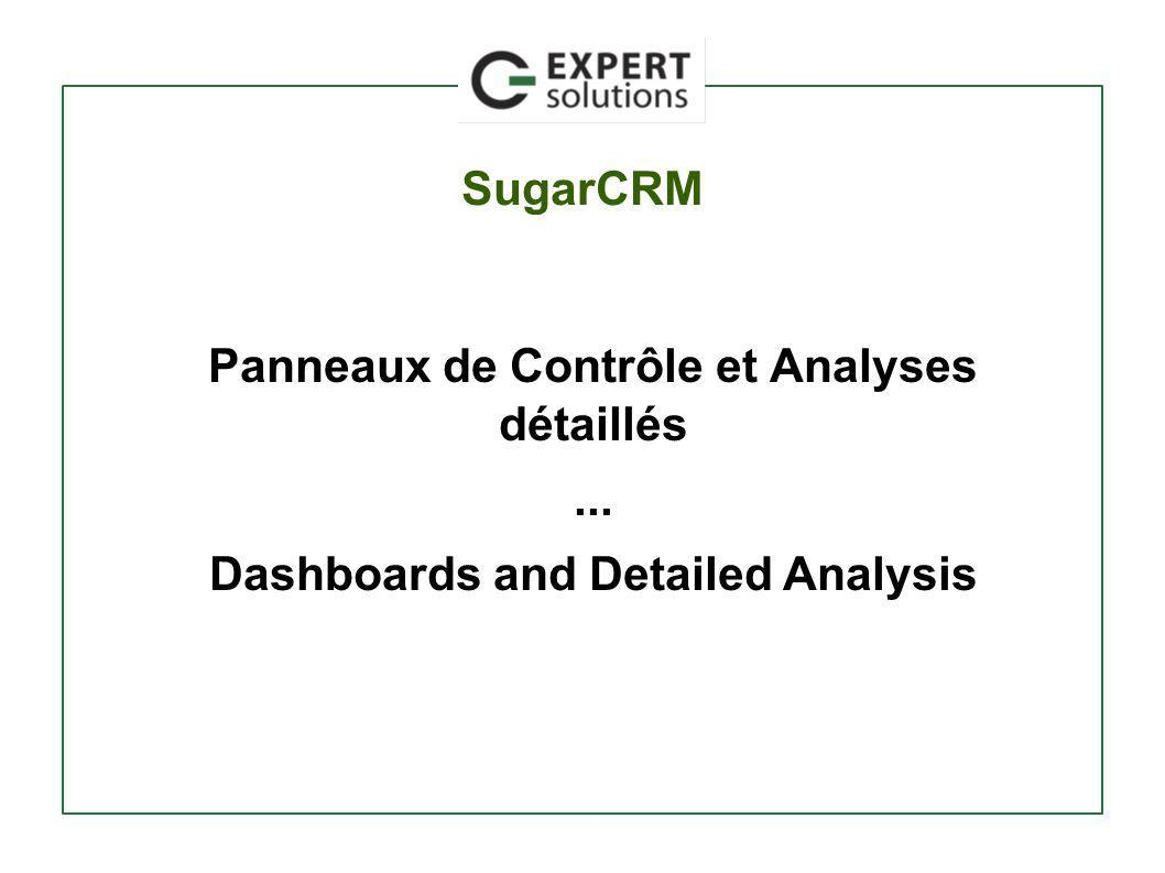 SugarCRM Panneaux de Contrôle et Analyses détaillés... Dashboards and Detailed Analysis