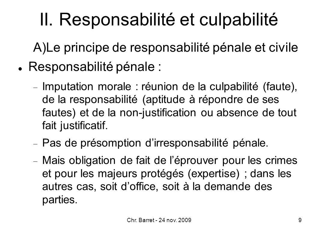 Mais irresponsabilité pénale du mineur de 13 ans qui « ne possède pas le minimum de raison nécessaire pour comprendre la nature et la portée de l acte qu on lui reproche » (Crim.
