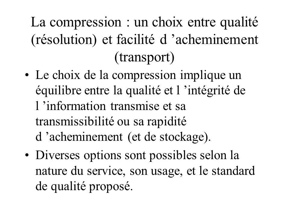 La compression de l image animée Les normes de définition de l image animée (625 lignes/1250 lignes). Les normes MPEG 2/MPEG 4/DIVX/Qvis La corrélatio