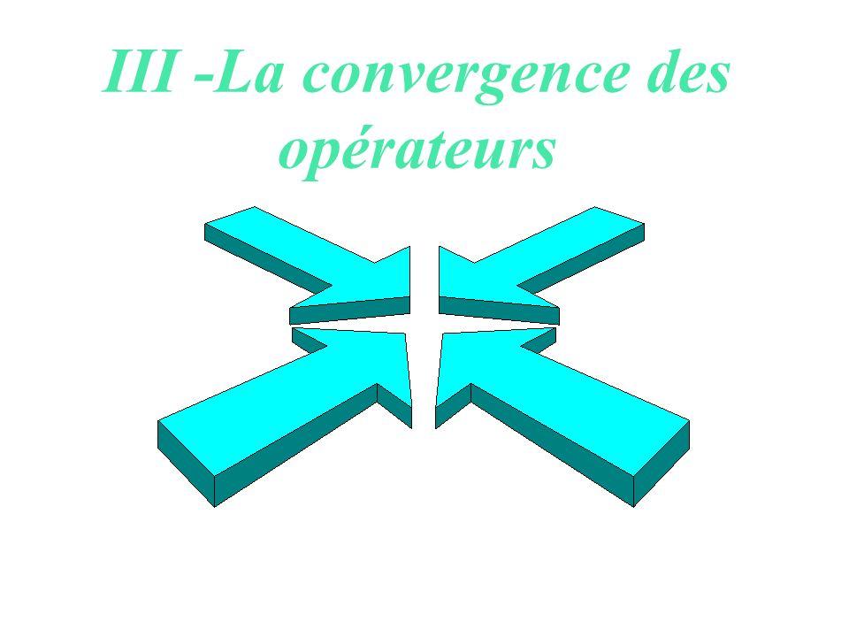 La convergence des services :les terminaux L évolution récente des terminaux : diversification des fonctions; réunion ou dissociation ? Téléphones I-m