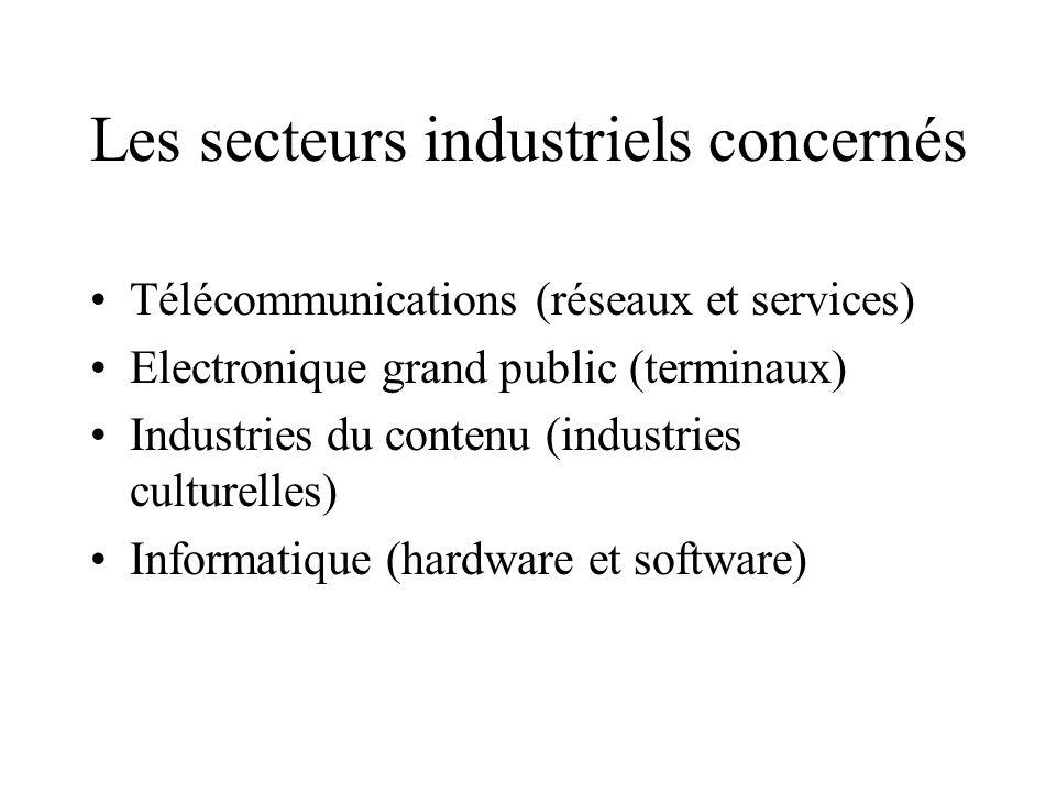 - les fournisseurs de contenu (éditeurs) - les fournisseurs d accès (distributeurs) - les opérateurs d infrastructures (opérateurs de télecom, câble,