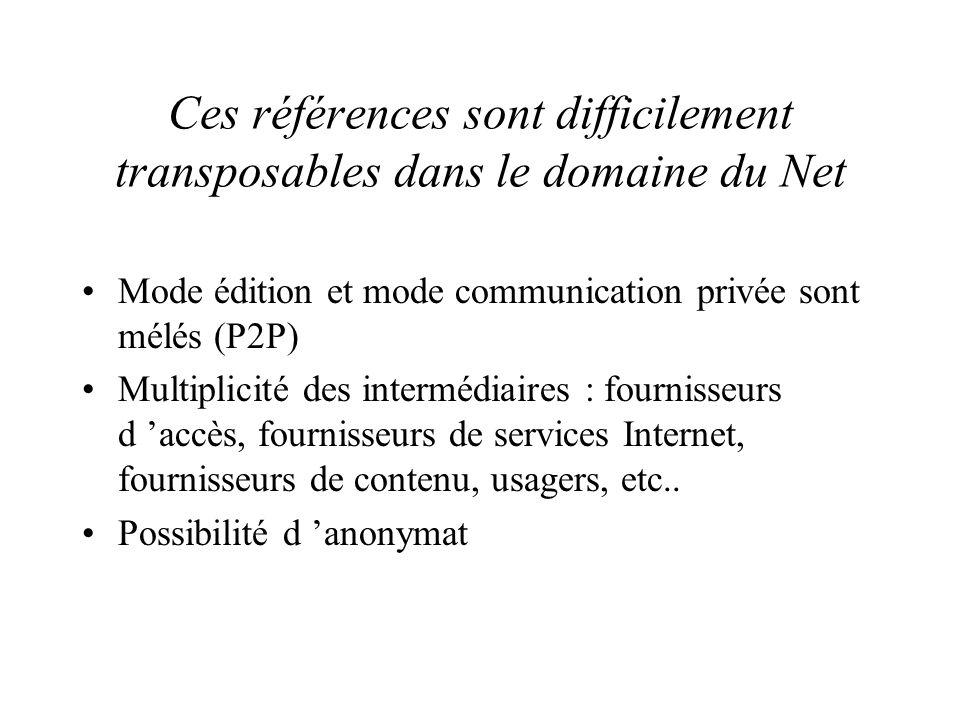 Les piliers de la régulation des médias traditionnels Propriété d Etat des réseaux et des offres de contenus Systèmes d autorisation préalables (licen
