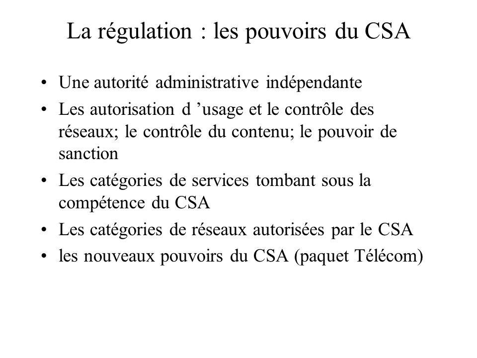 Les moyens de protection et de contrôle : la régulation La protection par les instances de régulation L autorégulation La co-régulation La multirégula