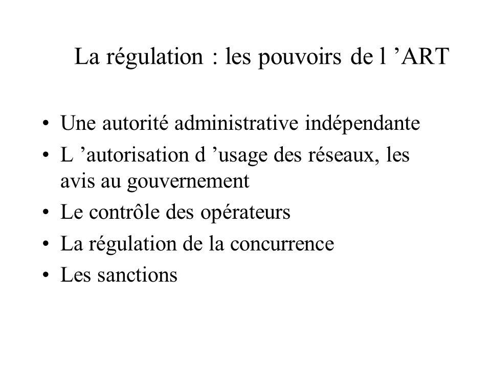 La régulation : les pouvoirs du CSA Une autorité administrative indépendante Les autorisation d usage et le contrôle des réseaux; le contrôle du conte