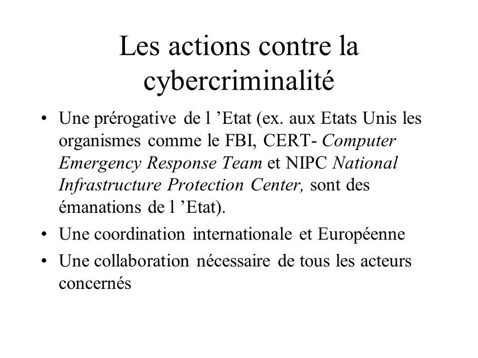 La cybercriminalité : quelle protection contre les Hackers ? Les formes de la cybercriminalité : extension au réseaux du vandalisme informatique ou él