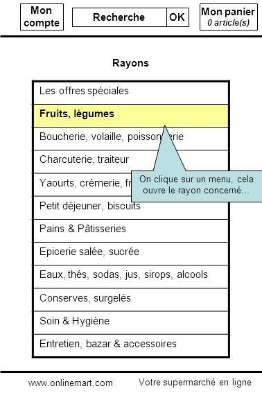 Mon panier 0 article(s) Mon compte Recherche OK Les offres spéciales Fruits, légumes Boucherie, volaille, poissonnerie Charcuterie, traiteur Yaourts,