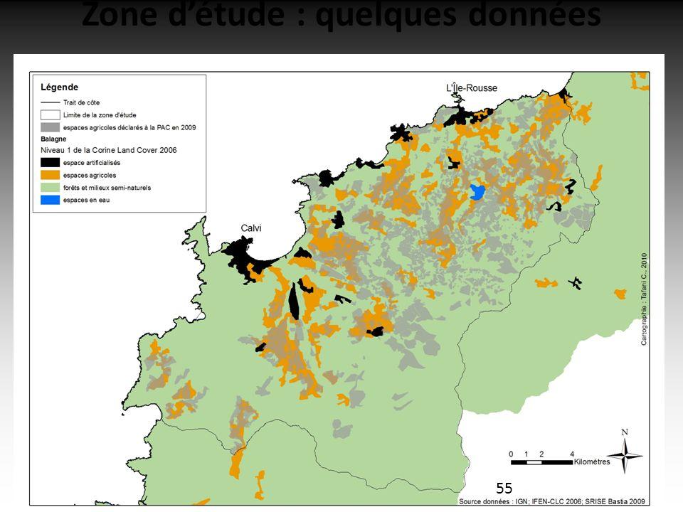 16/02/2011 Zone détude : quelques données 55