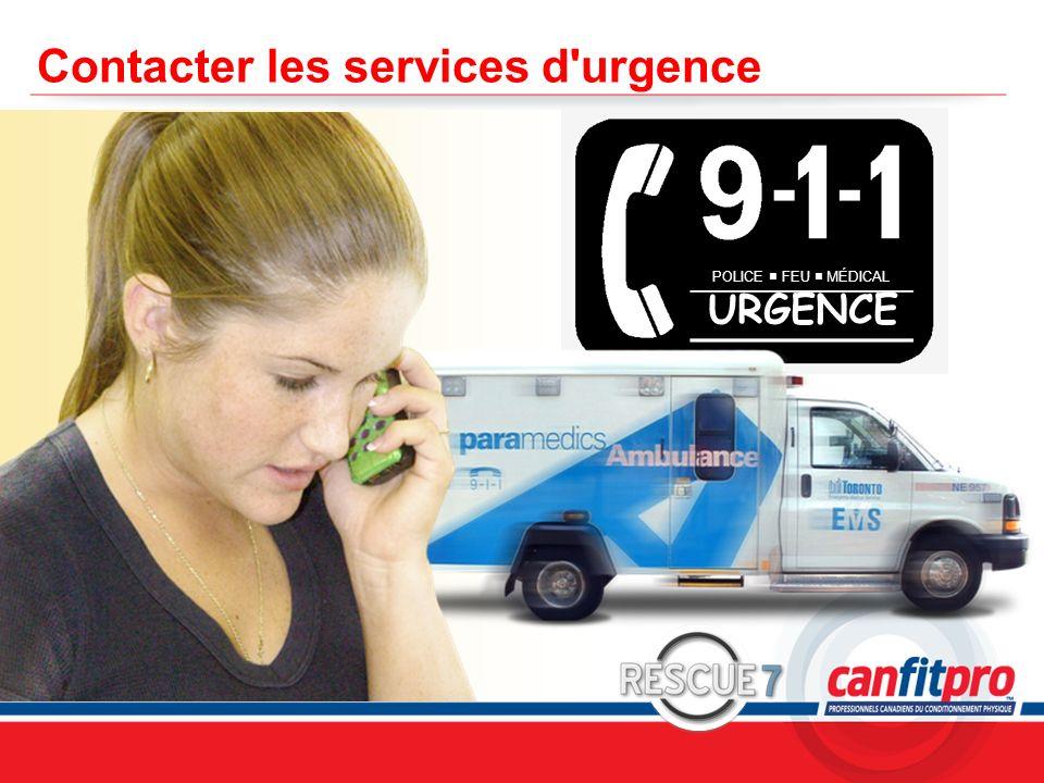 CPR Course Level 1 Contacter les services d'urgence POLICE FEU MÉDICAL URGENCE