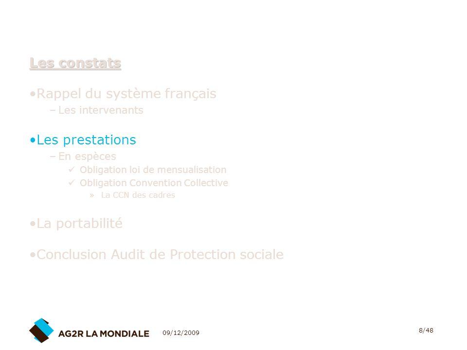 09/12/2009 39/48 La portabilité des droits de Prévoyance - Santé 7.