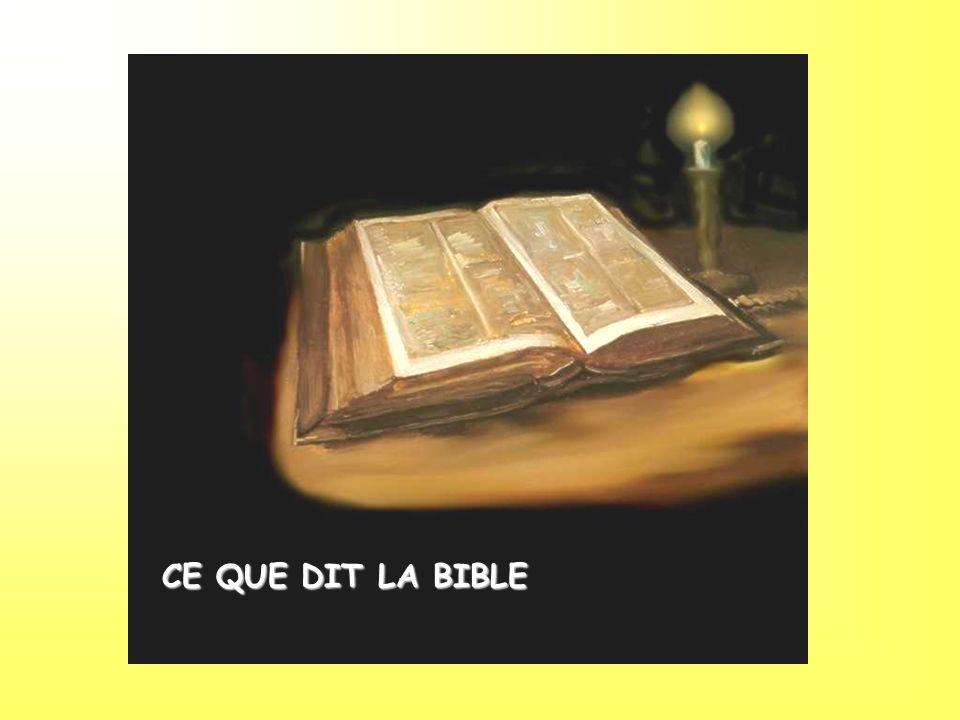 CE QUE DIT LA BIBLE
