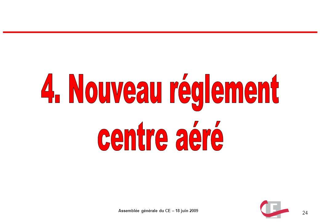 24 Assemblée générale du CE – 18 juin 2009