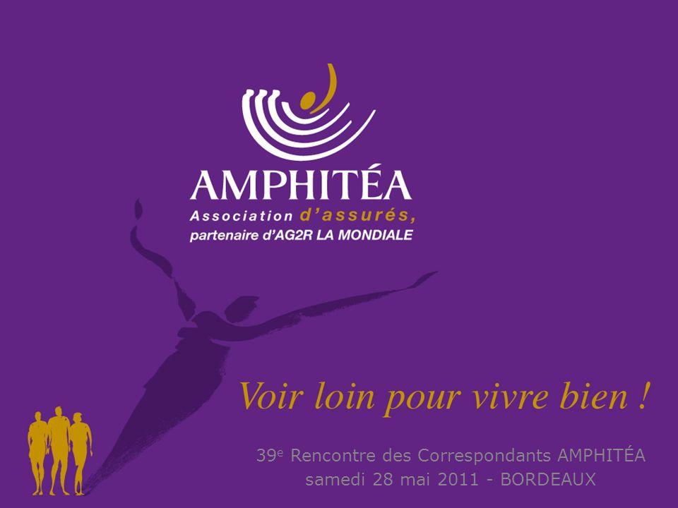 28 mai 2011 1 1 PARTENAIRE DAG2R LA MONDIALE 39 e Rencontre des Correspondants AMPHITÉA samedi 28 mai 2011 - BORDEAUX