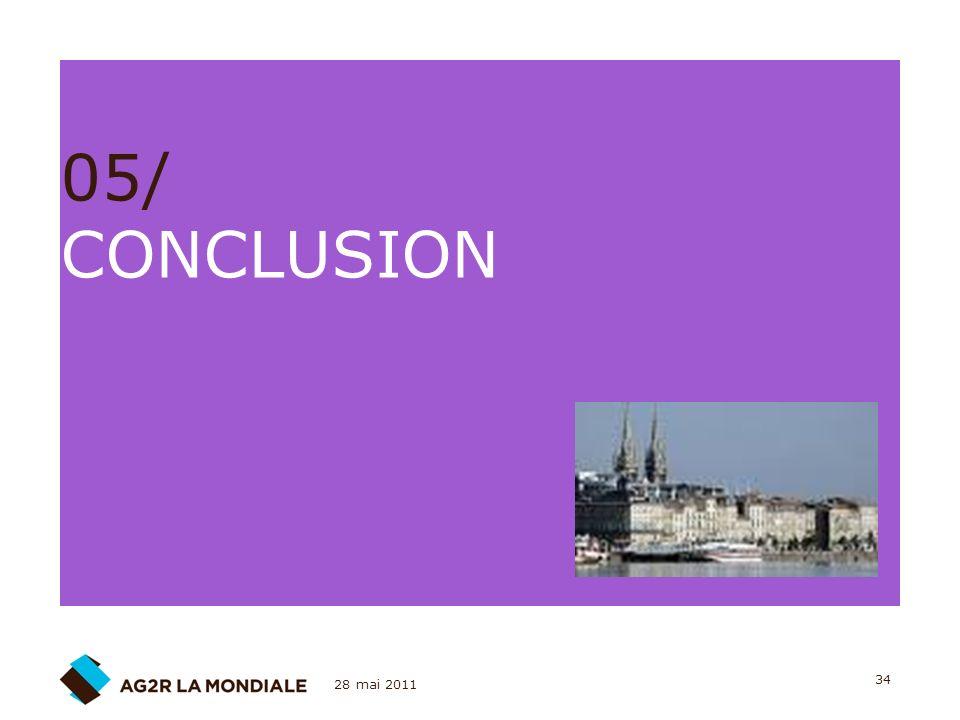 28 mai 2011 34 05/ CONCLUSION