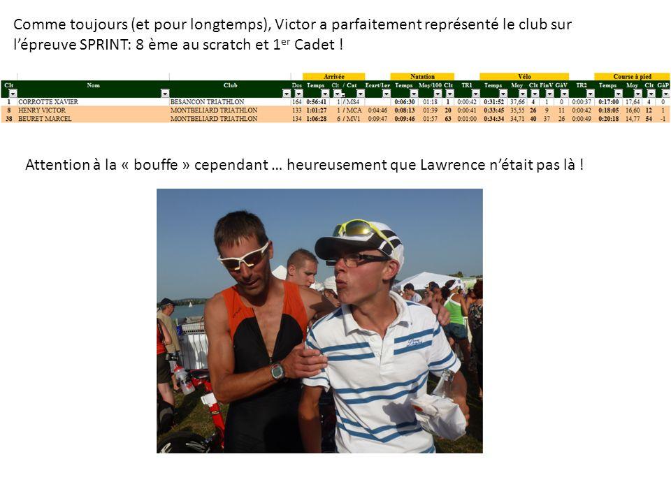 Comme toujours (et pour longtemps), Victor a parfaitement représenté le club sur lépreuve SPRINT: 8 ème au scratch et 1 er Cadet .