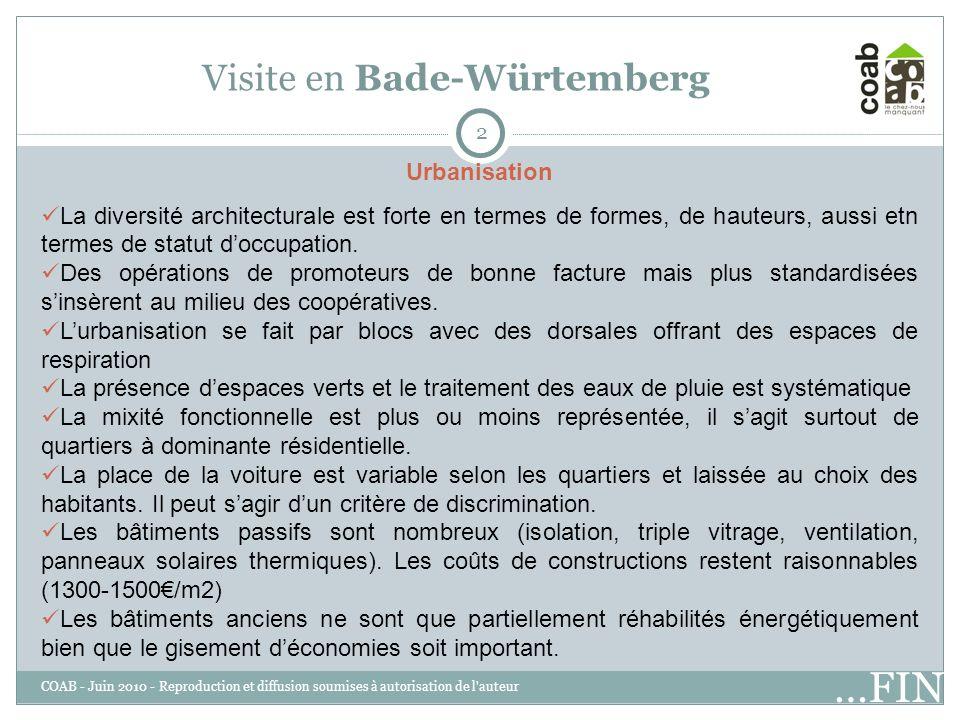 3 Visite en Bade-Würtemberg Population La population est plus jeune que la moyenne nationale.