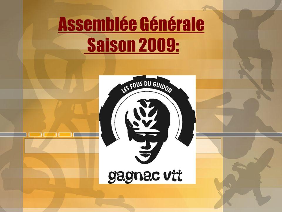 Assemblée Générale Saison 2009: