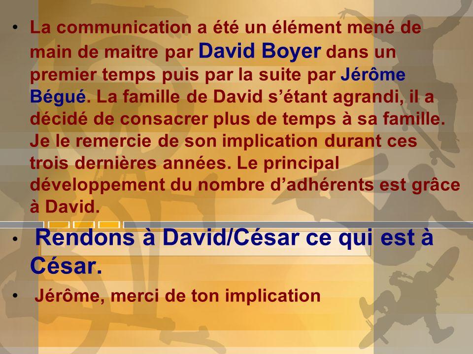 La communication a été un élément mené de main de maitre par David Boyer dans un premier temps puis par la suite par Jérôme Bégué. La famille de David