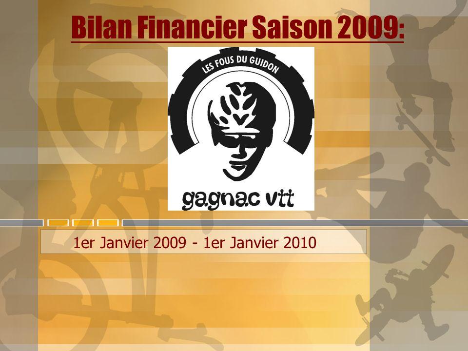 Bilan Financier Saison 2009: 1er Janvier 2009 - 1er Janvier 2010