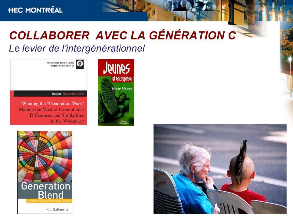 COLLABORER AVEC LA GÉNÉRATION C Le levier de lintergénérationnel