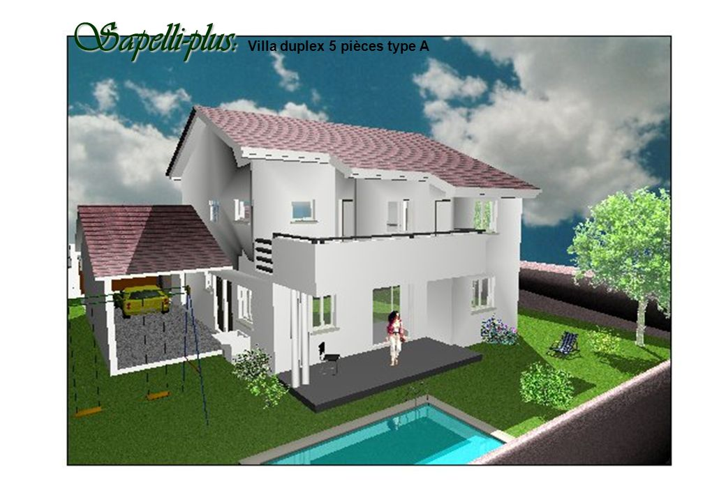 Sapelli-plus: Sapelli-plus: Villa duplex 5 pièces type A