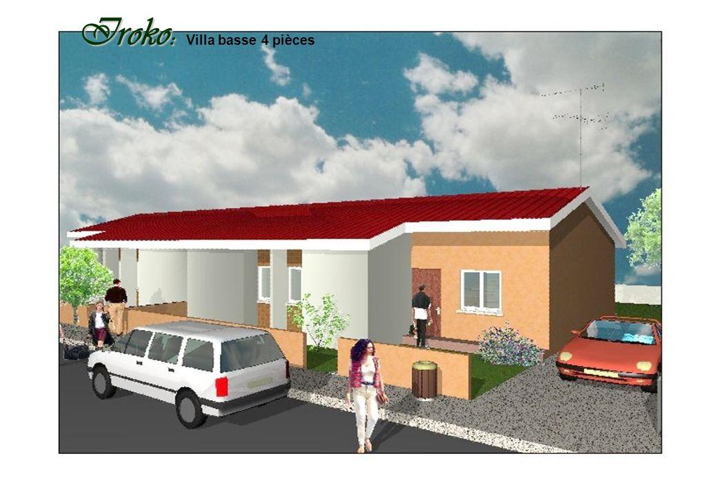 Samba : Samba : Villa basse 3 pièces évolutive en 5 pièces SICS SARL au Capital de 5.000.000 F CFA Siège social : Riviera Bonoumin. 26 bp 120 Abidjan