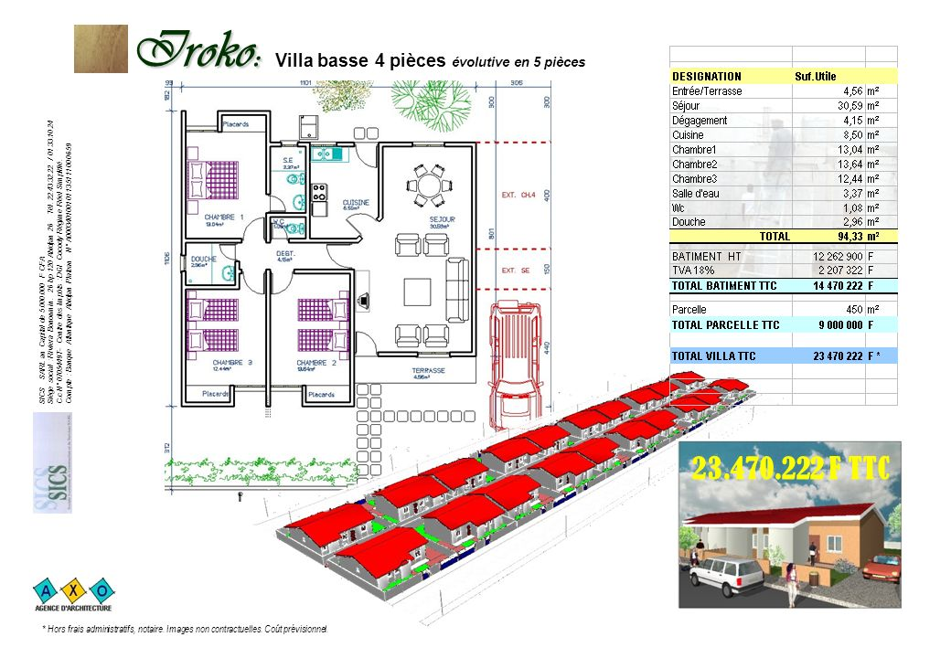 Iroko: Iroko: Villa basse 4 pièces