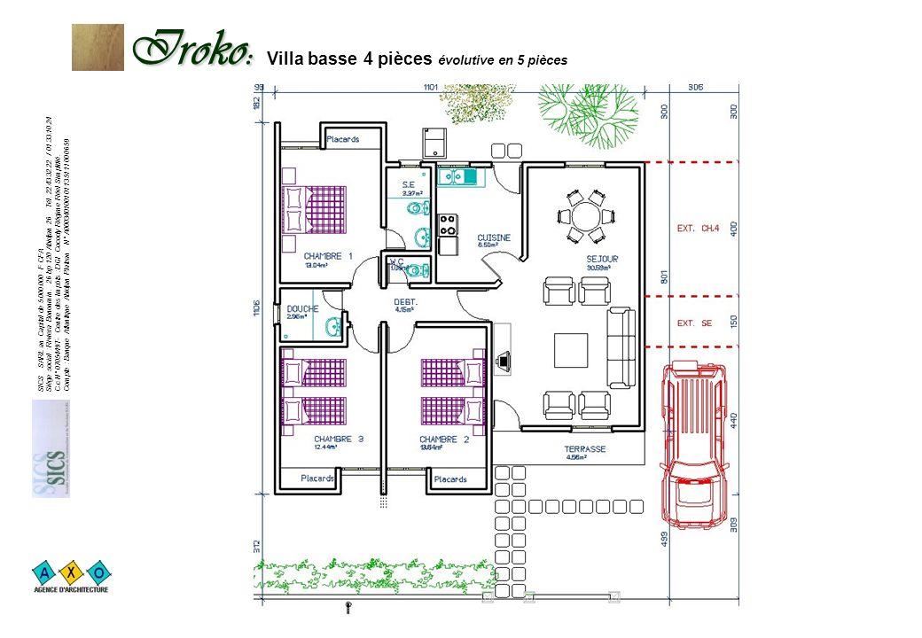 23.470.222 F TTC SICS SARL au Capital de 5.000.000 F CFA Siège social : Riviera Bonoumin. 26 bp 120 Abidjan 26 Tél. 22.43.32.22 / 01.33.10.24 C.c N° 0