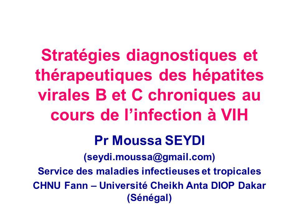 Plan Généralités –Définition –Intérêt Stratégies diagnostiques et thérapeutiques de la co-infection VIH- VHB –Stratégies diagnostiques –Stratégies thérapeutiques Stratégies diagnostiques et thérapeutiques de la co-infection VIH- VHC –Stratégies diagnostiques –Stratégies thérapeutiques Conclusion