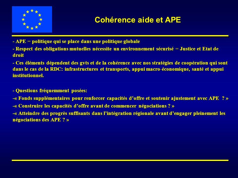 - APE = politique qui se place dans une politique globale - Respect des obligations mutuelles nécessite un environnement sécurisé = Justice et Etat de