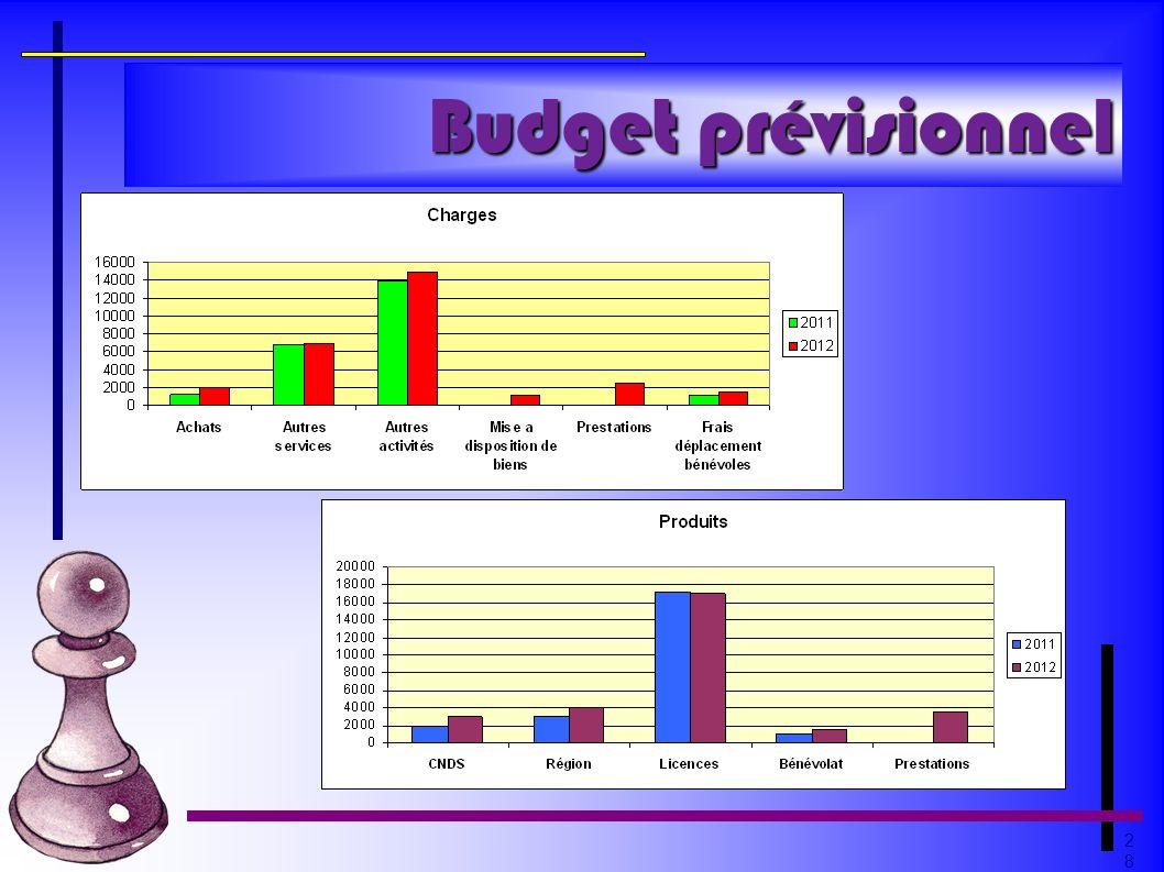 2828 Budget prévisionnel