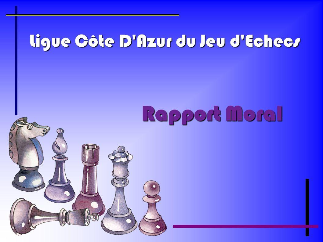 Ligue Côte D'Azur du Jeu d'Echecs Rapport Moral