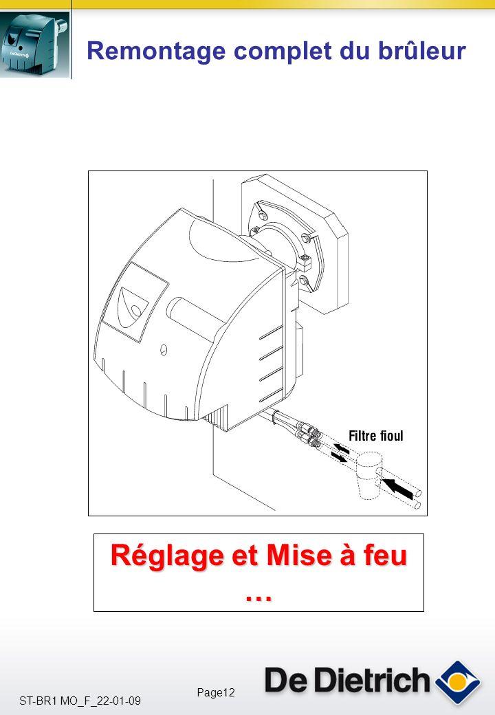 ST-BR1 MO_F_22-01-09 Page11 Électricité du brûleur. A quoi corresponde les différentes sorties électriques du socle câblage ?