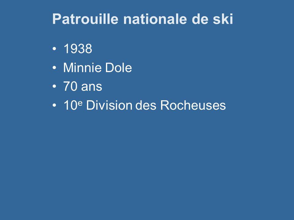 Patrouille nationale de ski 1938 Minnie Dole 70 ans 10 e Division des Rocheuses