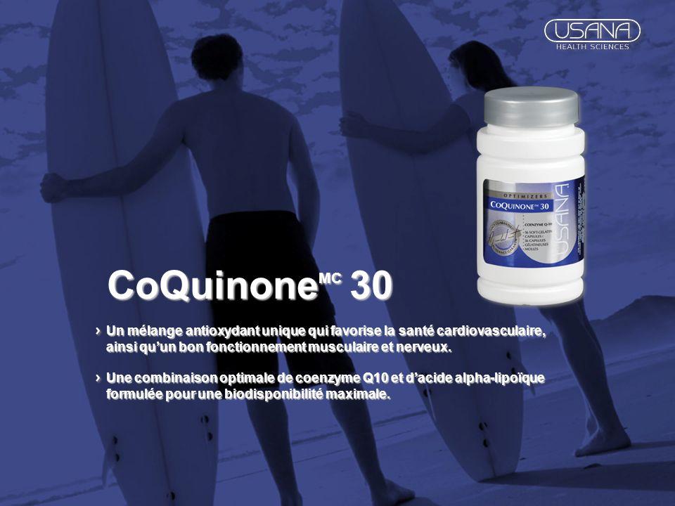 CoQuinone MC 30 Un mélange antioxydant unique qui favorise la santé cardiovasculaire, ainsi quun bon fonctionnement musculaire et nerveux. Une combina