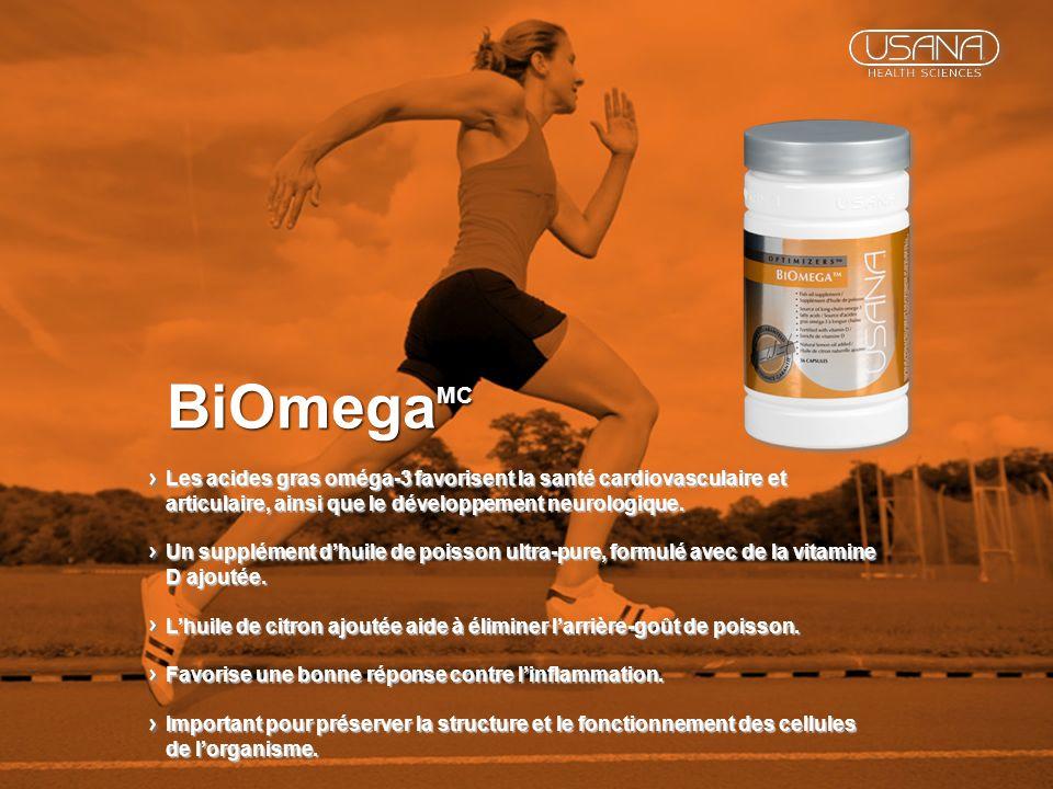 BiOmega MC Les acides gras oméga-3 favorisent la santé cardiovasculaire et articulaire, ainsi que le développement neurologique. Un supplément dhuile