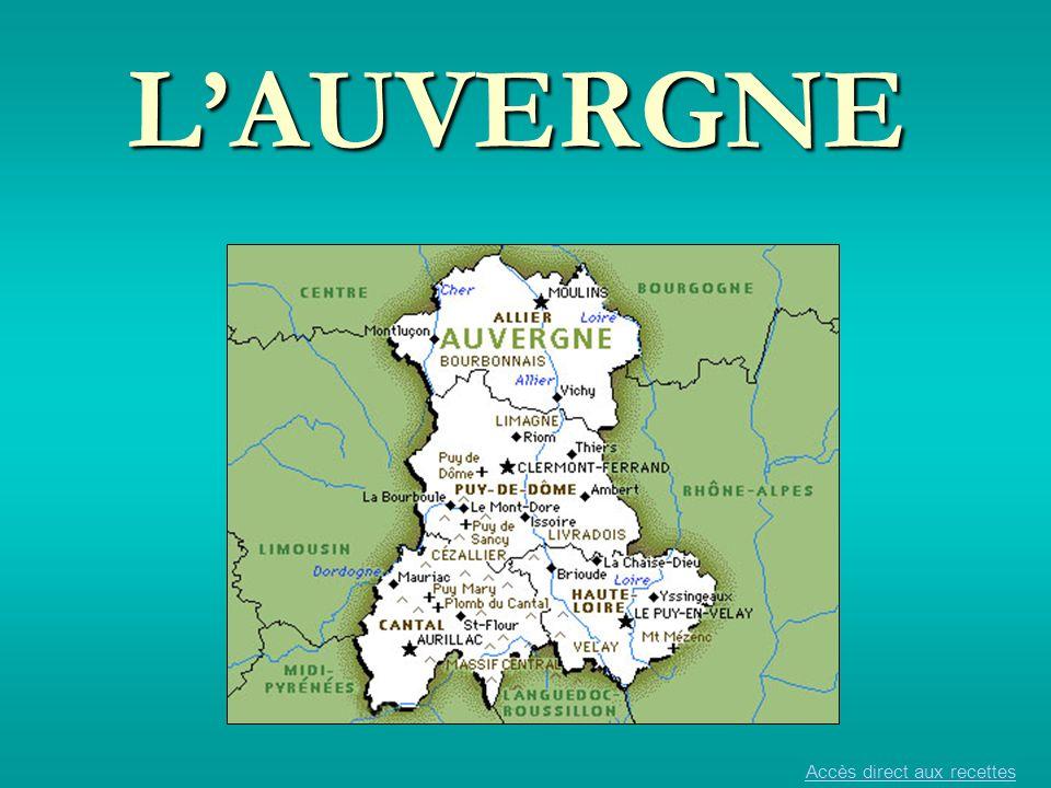 LAuvergne en France