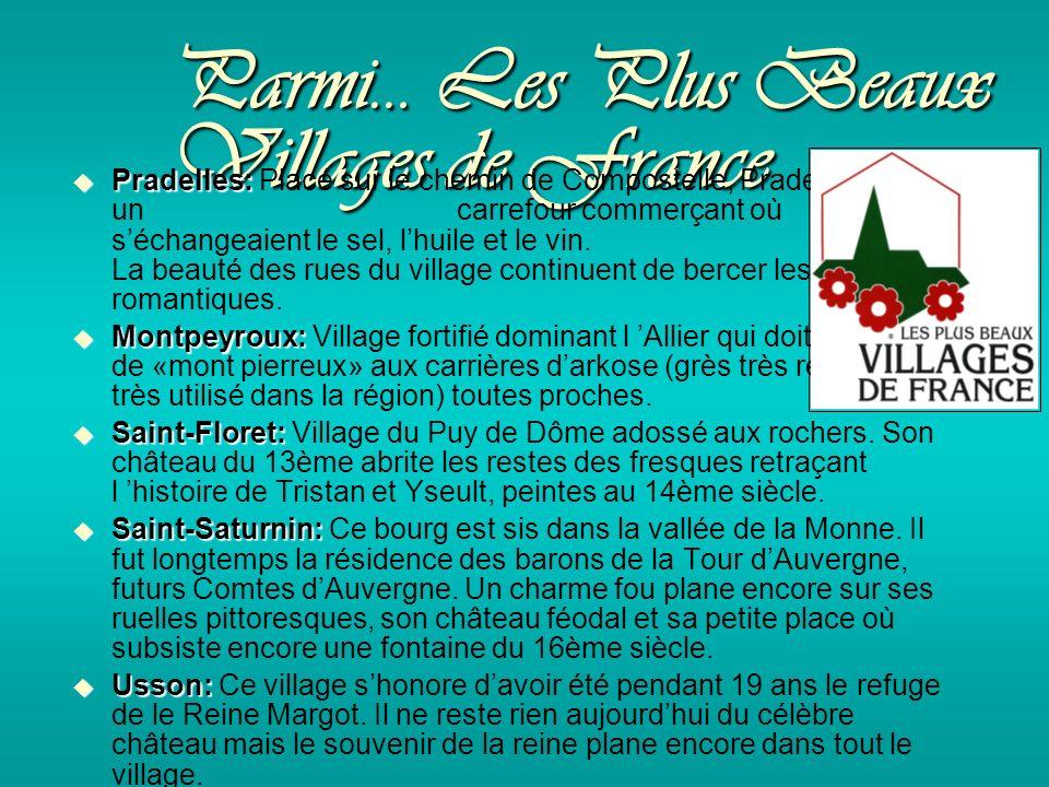 Parmi… Les Plus Beaux Villages de France Pradelles: Pradelles: Placé sur le chemin de Compostelle, Pradelles était un carrefour commerçant où séchangeaient le sel, lhuile et le vin.