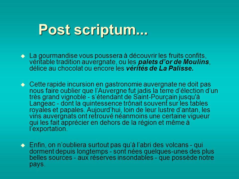Post scriptum...