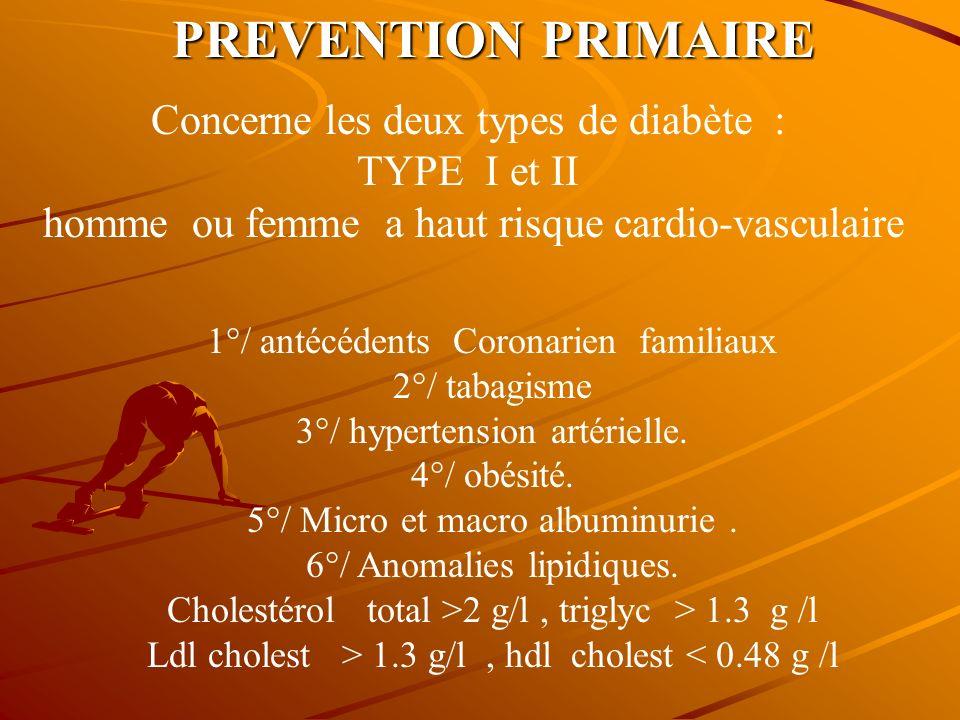 PREVENTION SECONDAIRE PREVENTION SECONDAIRE La prévention secondaire simpose chez tous les sujets Des deux sexes ayant : UNE ATTEINTE VASCULAIRE 1°/ a