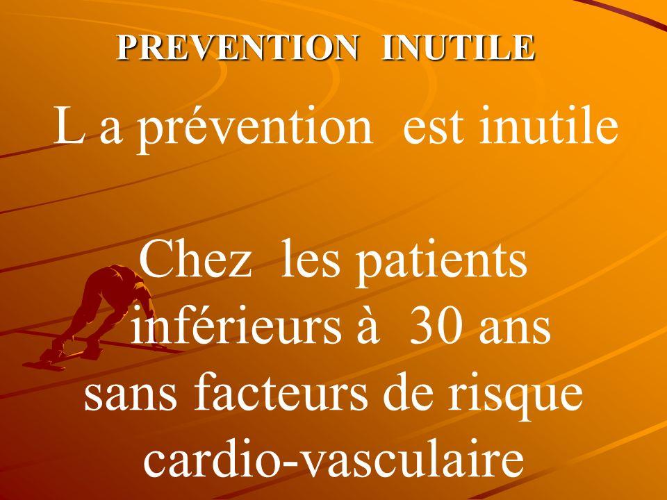 PREVENTION PRIMAIRE Concerne les deux types de diabète : TYPE I et II homme ou femme a haut risque cardio-vasculaire 1°/ antécédents Coronarien famili