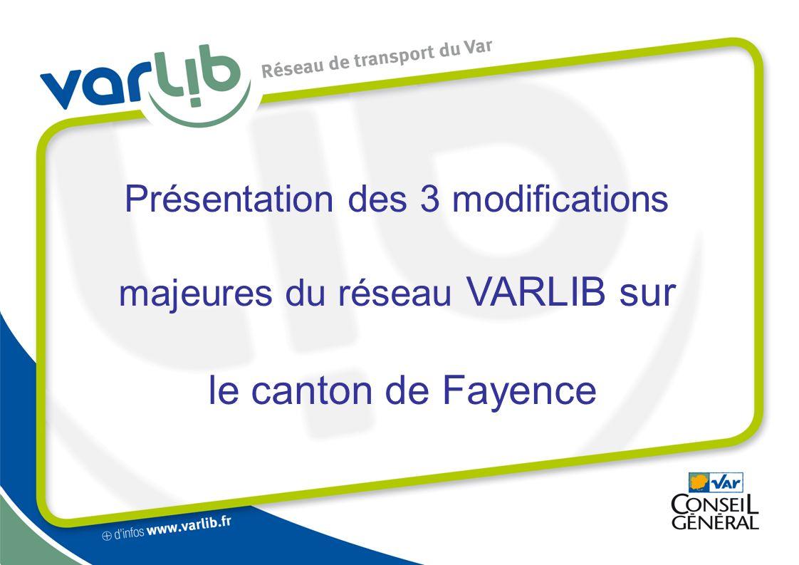 Présentation des 3 modifications majeures du réseau VARLIB sur le canton de Fayence