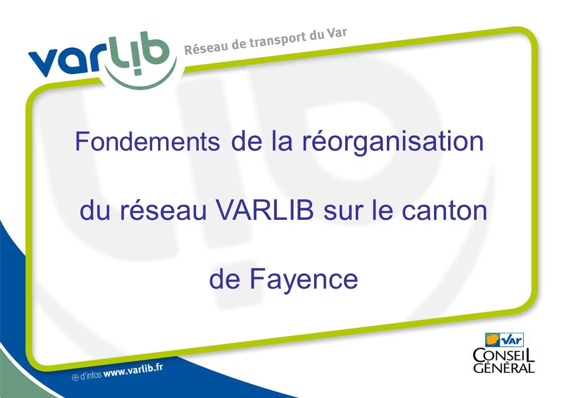 Fondements de la réorganisation du réseau VARLIB sur le canton de Fayence